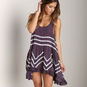 **Free People Voile & Lace Trapeze Slip**